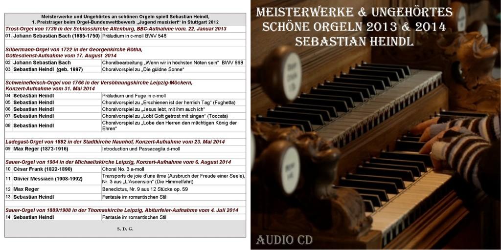 CD Booklet Druck AUSSEN Schöne Orgeln 2013 2014