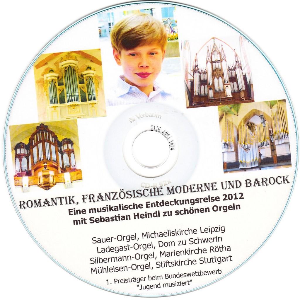 Etikett Sebastian Orgel-CD 2012