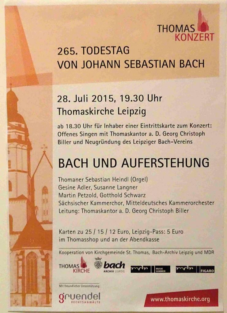 Plakat-Bach und Auferstehung