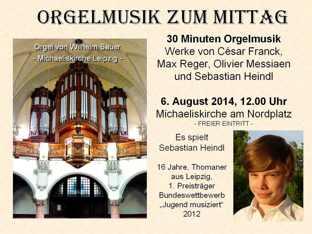 Plakat Sebastian Orgelkonzert 2014-08-06