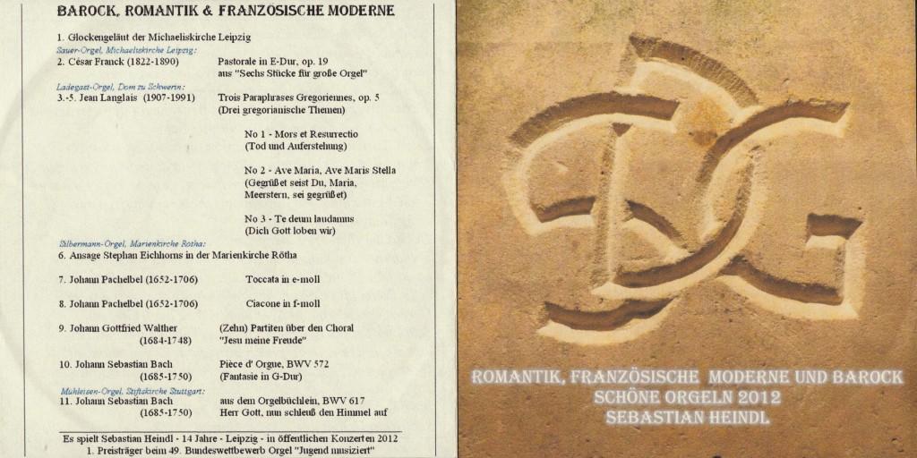 Sebastian Orgel-CD 2012 Booklet aussen